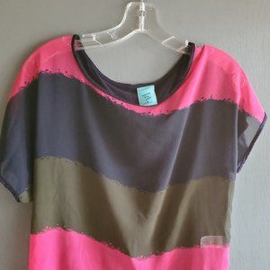 H.I.P Multicolor Polyester Blouse - Size M